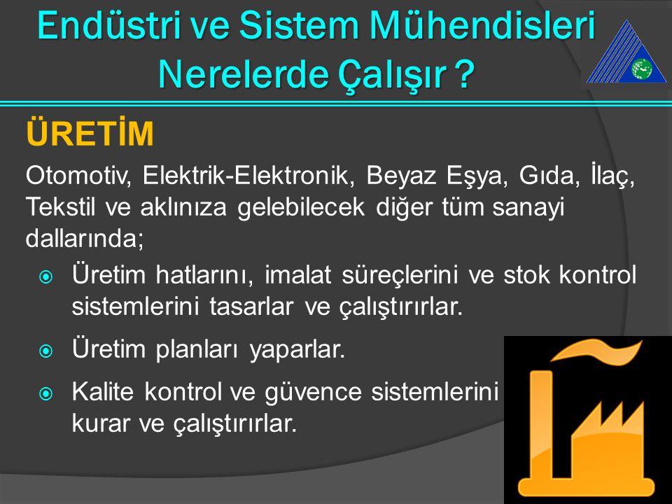 Endüstri ve Sistem Mühendisleri Nerelerde Çalışır