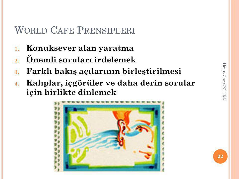 World Cafe Prensipleri