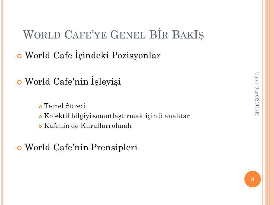 World Cafe'ye Genel Bİr BakIş