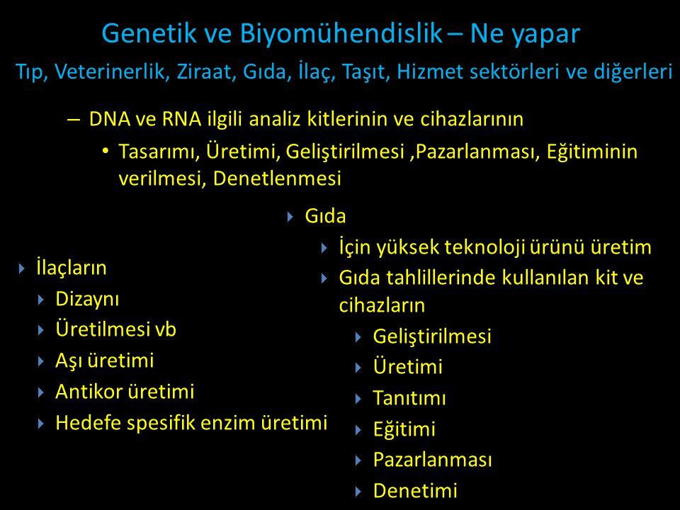 Genetik ve Biyomühendislik – Ne yapar