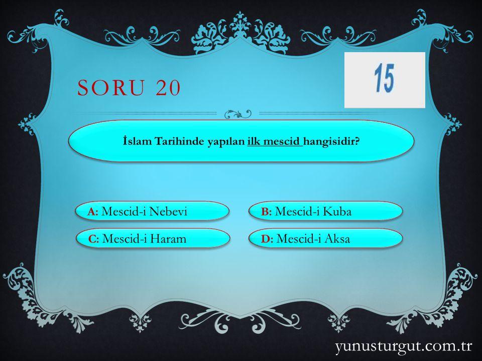 İslam Tarihinde yapılan ilk mescid hangisidir