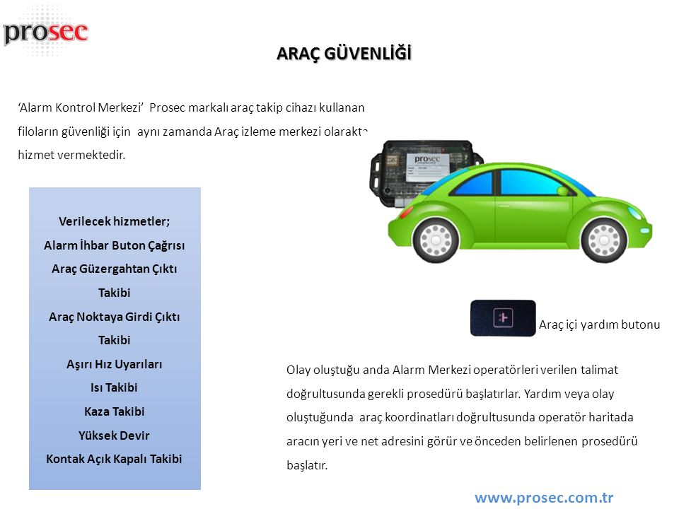ARAÇ GÜVENLİĞİ www.prosec.com.tr