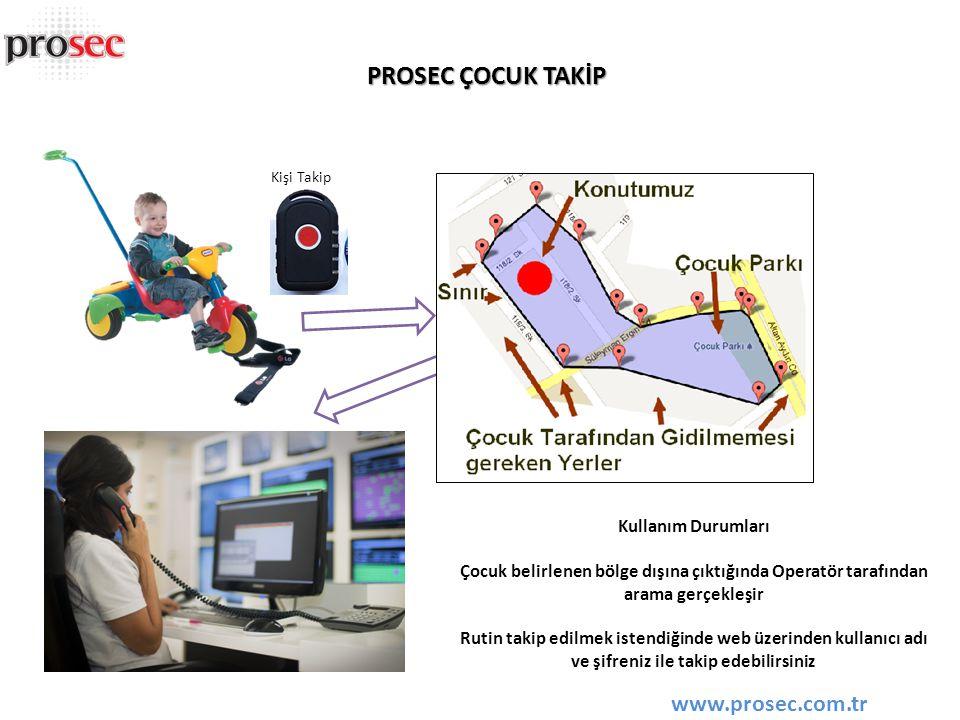 PROSEC ÇOCUK TAKİP www.prosec.com.tr Kullanım Durumları
