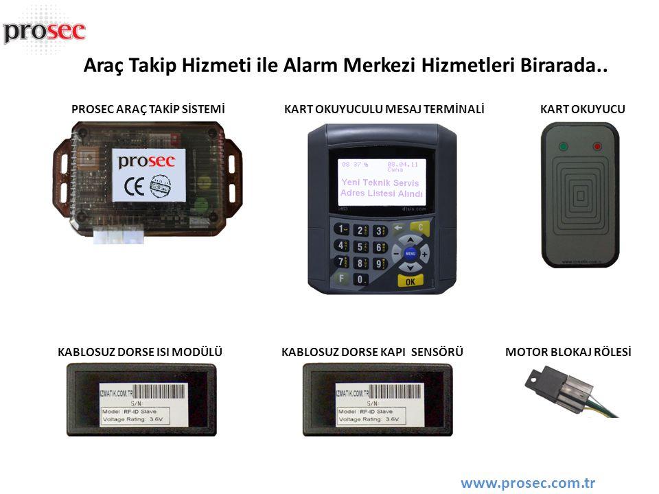 Araç Takip Hizmeti ile Alarm Merkezi Hizmetleri Birarada..