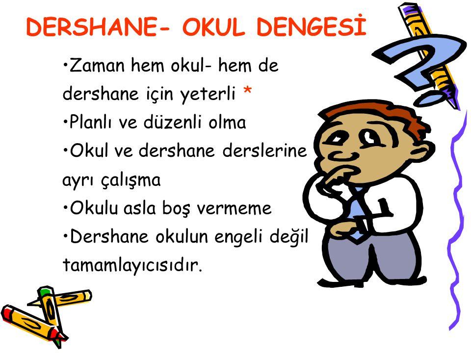 DERSHANE- OKUL DENGESİ