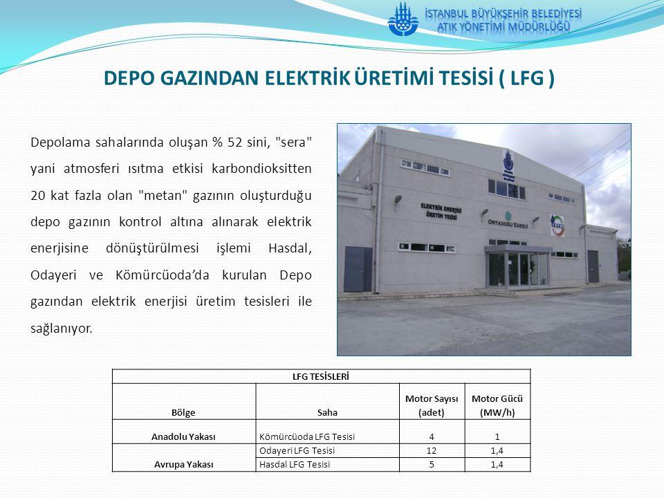 DEPO GAZINDAN ELEKTRİK ÜRETİMİ TESİSİ ( LFG )