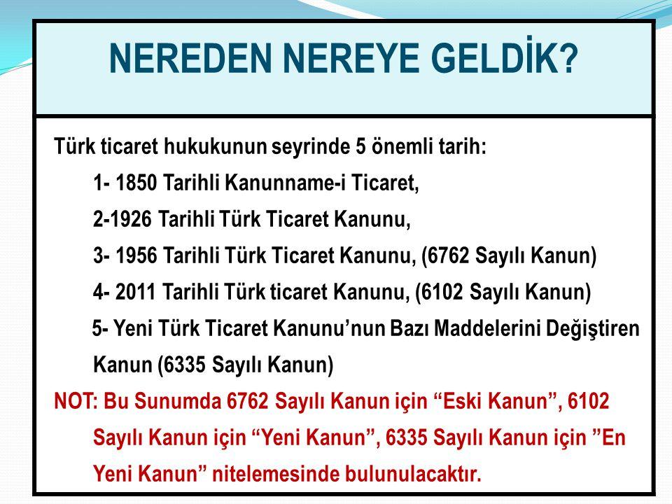 NEREDEN NEREYE GELDİK