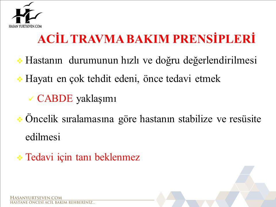 ACİL TRAVMA BAKIM PRENSİPLERİ