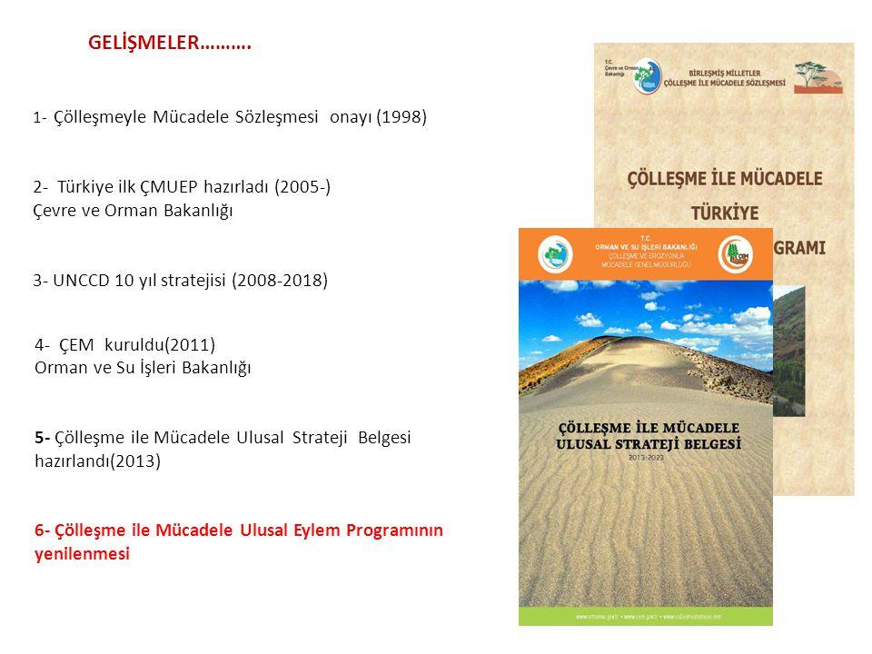GELİŞMELER………. 2- Türkiye ilk ÇMUEP hazırladı (2005-)