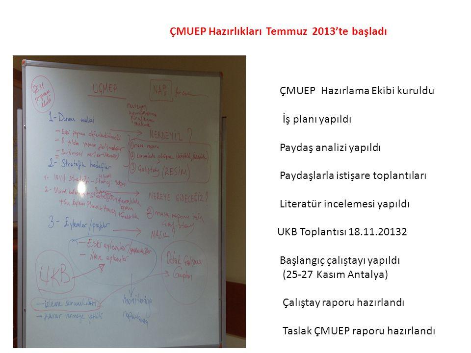 ÇMUEP Hazırlıkları Temmuz 2013'te başladı