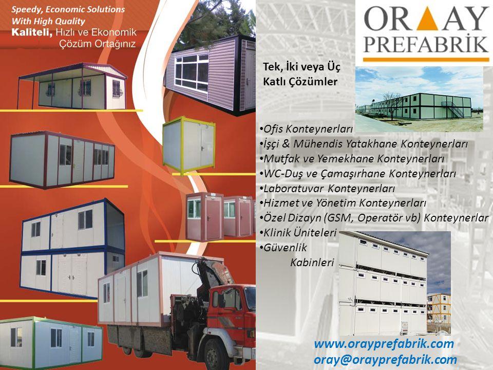 www.orayprefabrik.com oray@orayprefabrik.com