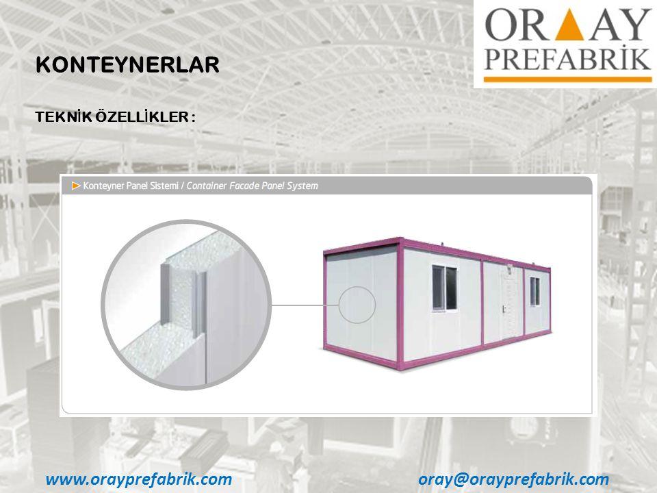 KONTEYNERLAR www.orayprefabrik.com oray@orayprefabrik.com
