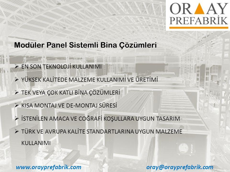 Modüler Panel Sistemli Bina Çözümleri