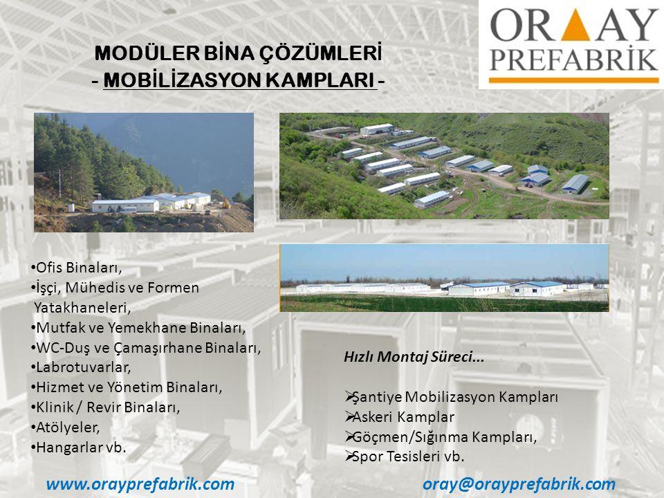 MODÜLER BİNA ÇÖZÜMLERİ - MOBİLİZASYON KAMPLARI -