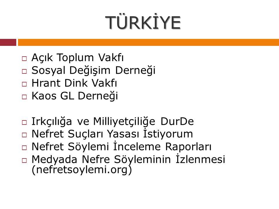 TÜRKİYE Açık Toplum Vakfı Sosyal Değişim Derneği Hrant Dink Vakfı