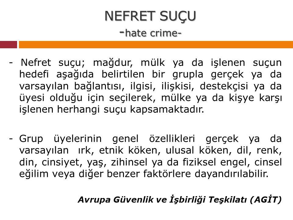 NEFRET SUÇU -hate crime-