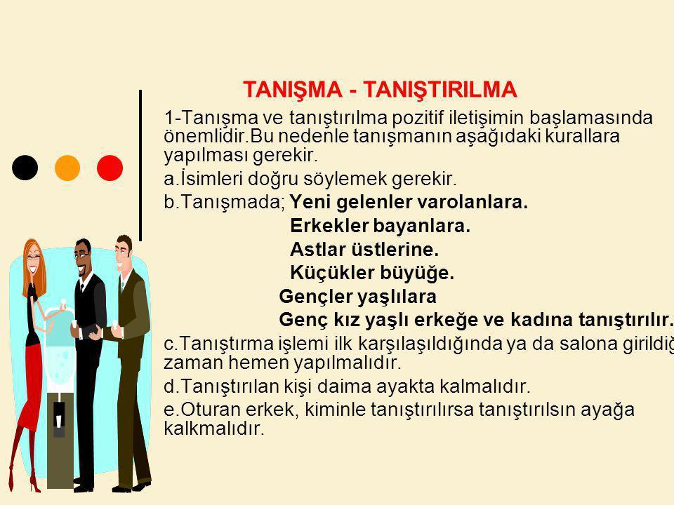 TANIŞMA - TANIŞTIRILMA