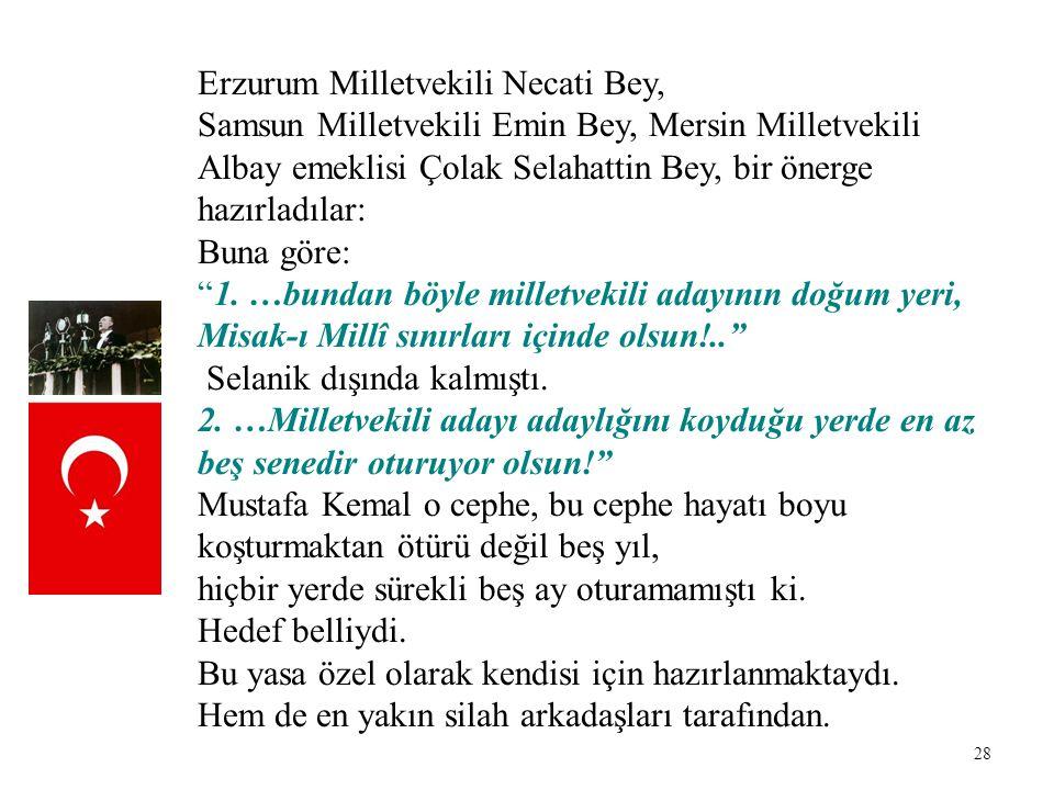 Erzurum Milletvekili Necati Bey,