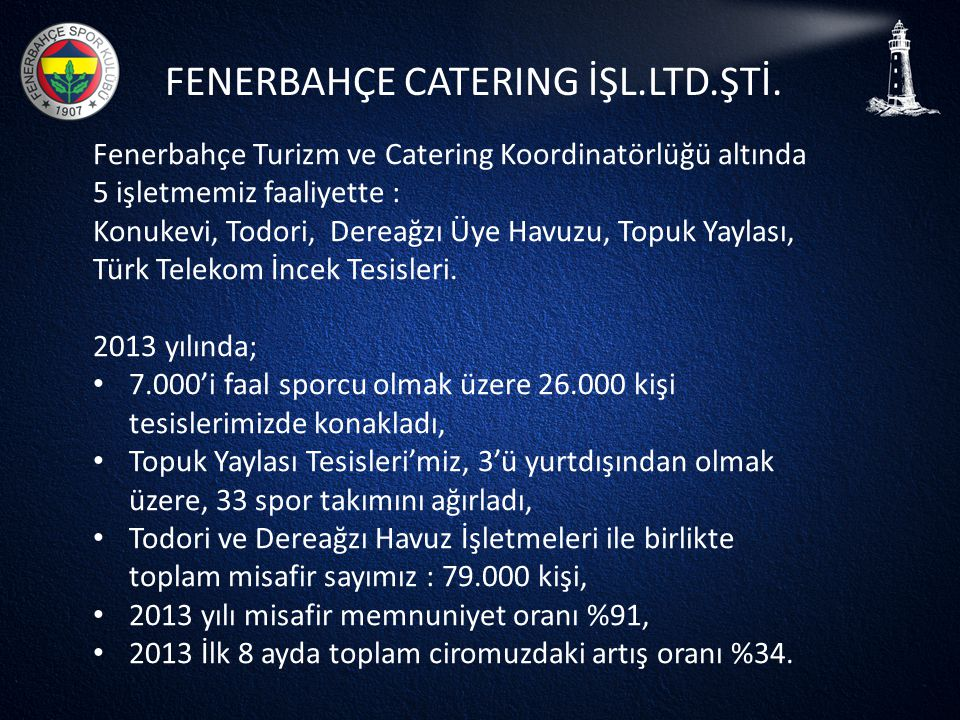 FENERBAHÇE CATERING İŞL.LTD.ŞTİ.