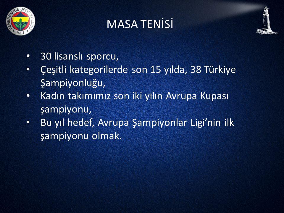 MASA TENİSİ 30 lisanslı sporcu,