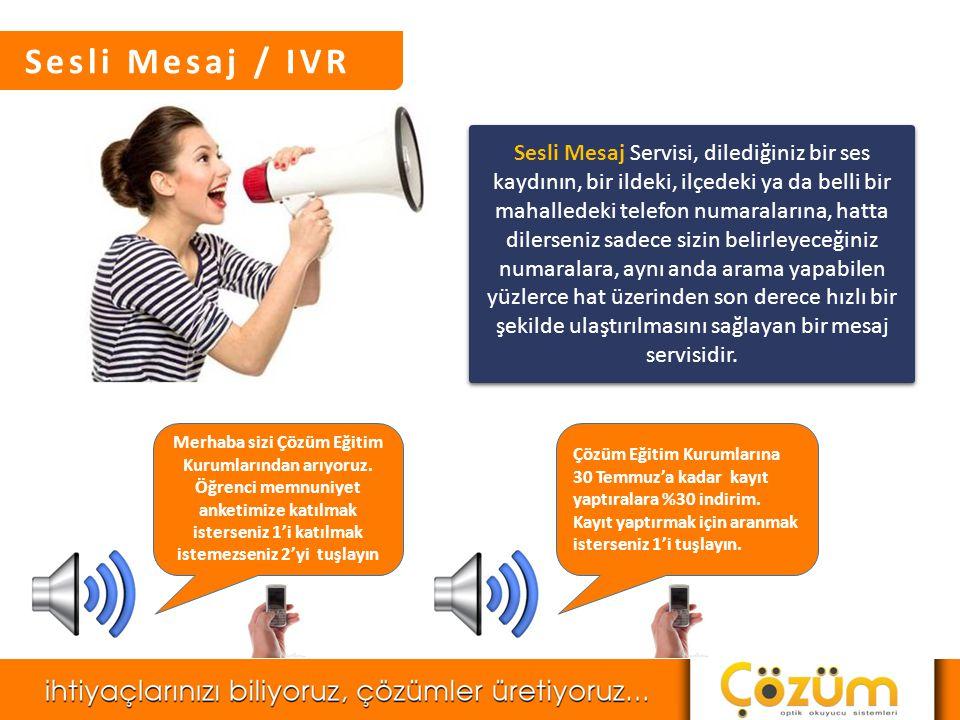 Sesli Mesaj / IVR