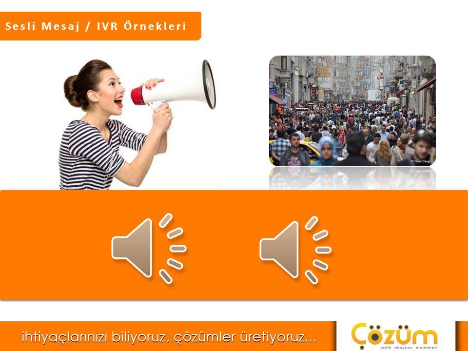 Sesli Mesaj / IVR Örnekleri