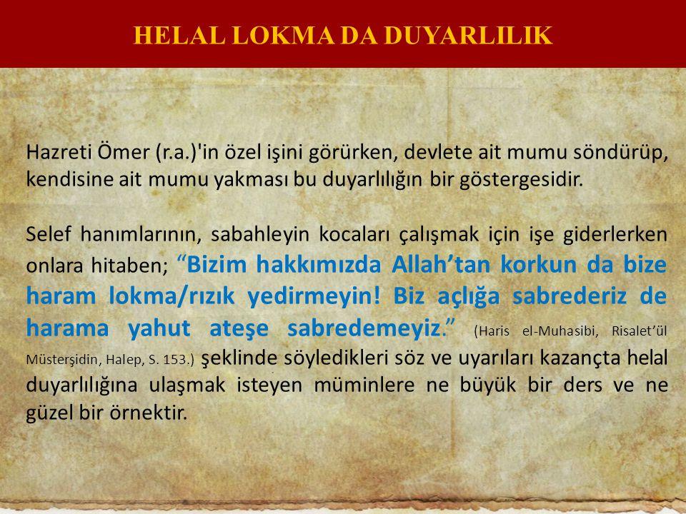HELAL LOKMA DA DUYARLILIK