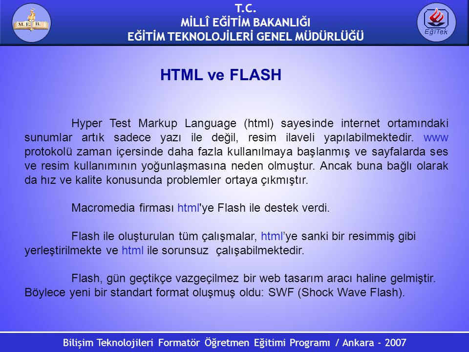 HTML ve FLASH