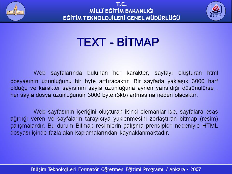 TEXT - BİTMAP