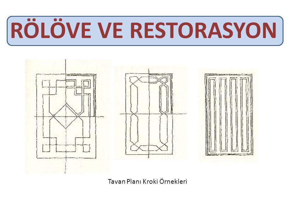 RÖLÖVE VE RESTORASYON Tavan Planı Kroki Örnekleri