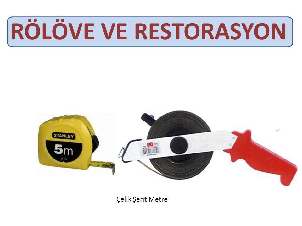 RÖLÖVE VE RESTORASYON Çelik Şerit Metre
