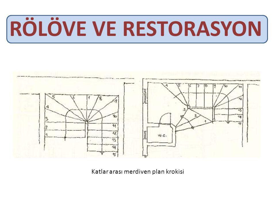 RÖLÖVE VE RESTORASYON Katlar arası merdiven plan krokisi