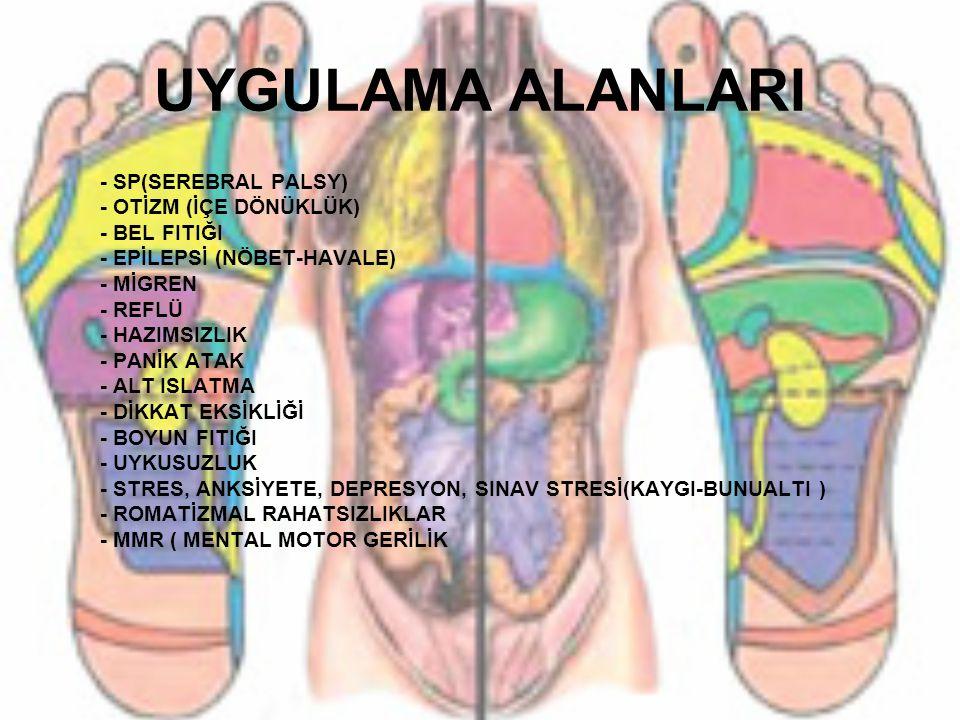 UYGULAMA ALANLARI - SP(SEREBRAL PALSY) - OTİZM (İÇE DÖNÜKLÜK)