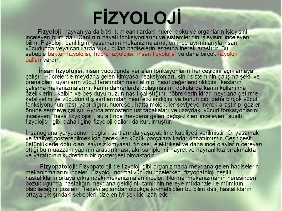 FİZYOLOJİ