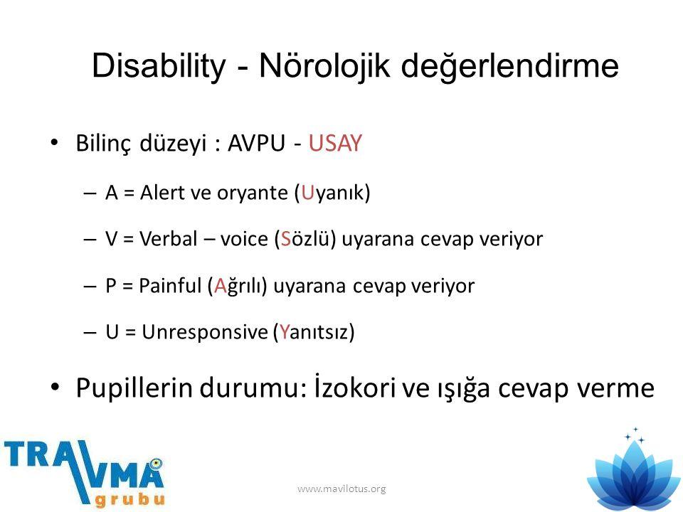 Disability - Nörolojik değerlendirme