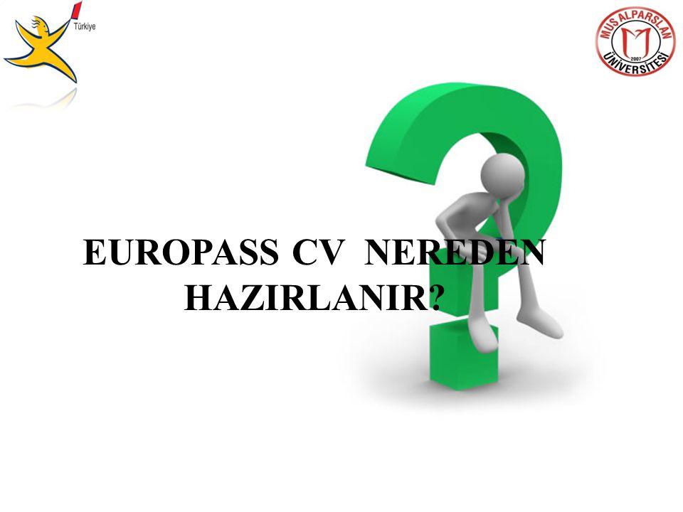 EUROPASS CV NEREDEN HAZIRLANIR