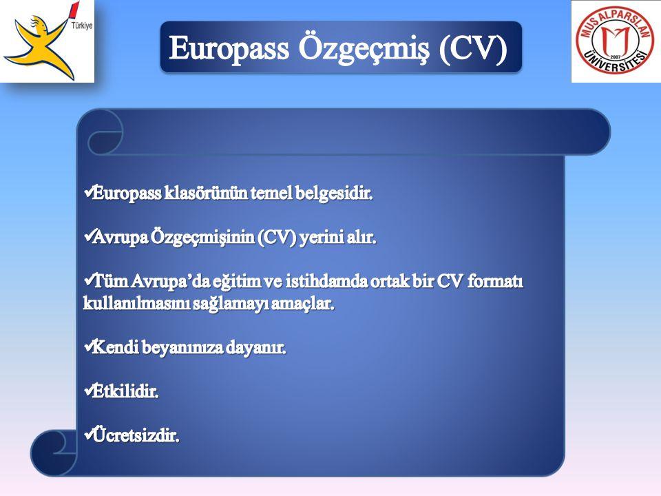 Europass Özgeçmiş (CV)