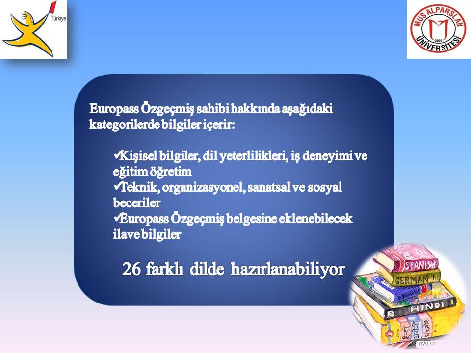26 farklı dilde hazırlanabiliyor