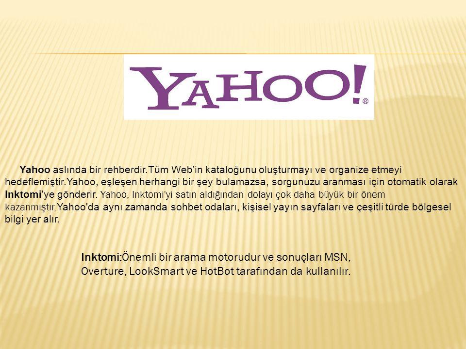 Yahoo aslında bir rehberdir