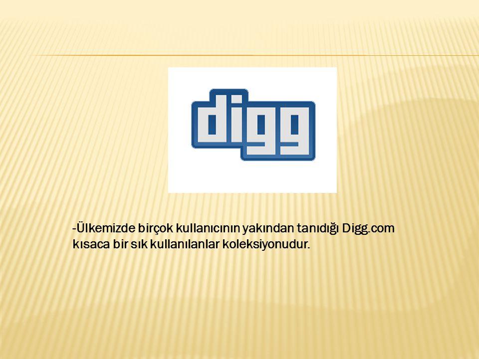 -Ülkemizde birçok kullanıcının yakından tanıdığı Digg