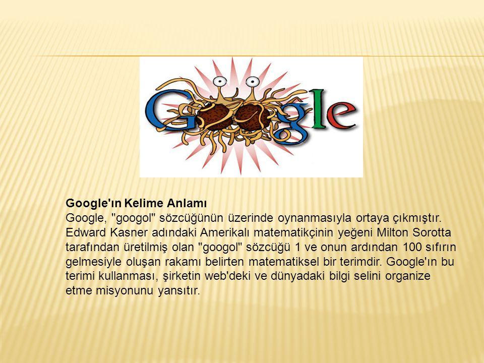 Google ın Kelime Anlamı