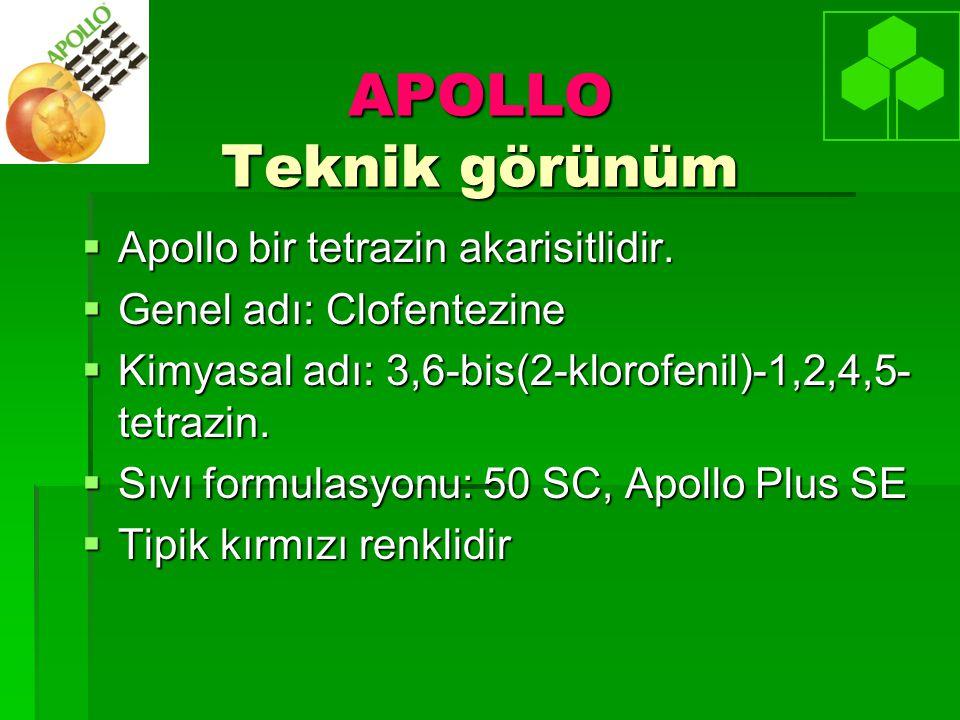 APOLLO Teknik görünüm Apollo bir tetrazin akarisitlidir.