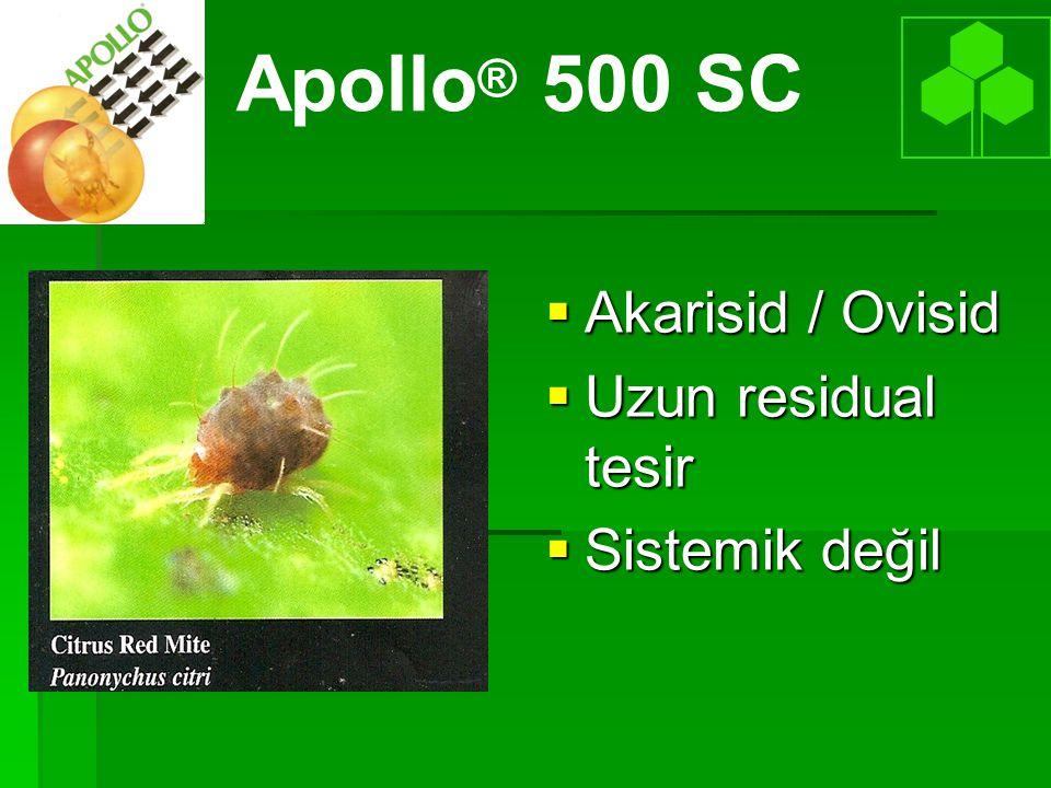 Apollo® 500 SC Akarisid / Ovisid Uzun residual tesir Sistemik değil