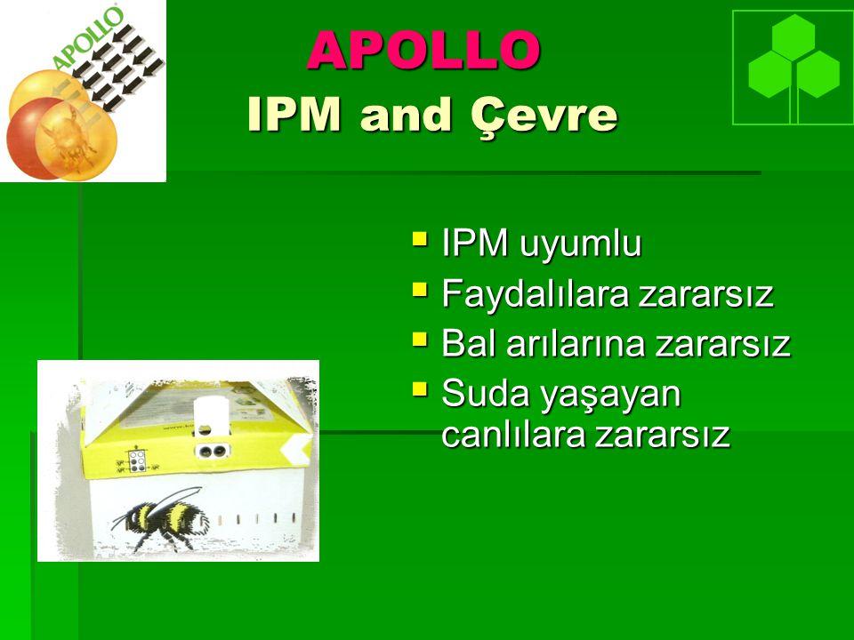 APOLLO IPM and Çevre IPM uyumlu Faydalılara zararsız