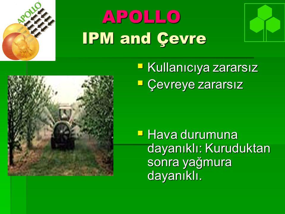 APOLLO IPM and Çevre Kullanıcıya zararsız Çevreye zararsız