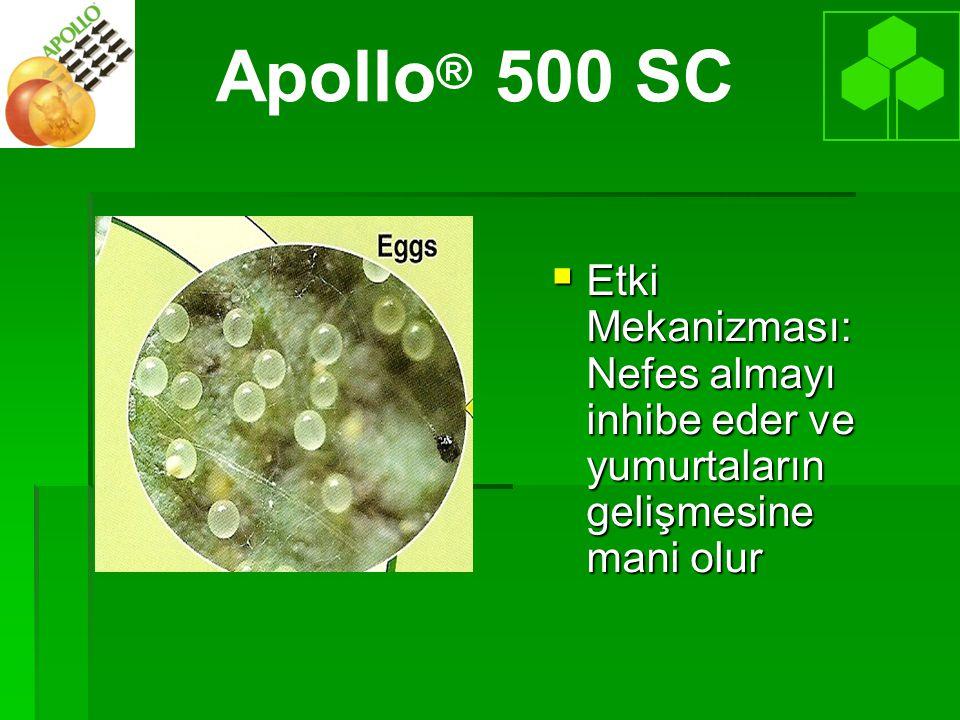 Apollo® 500 SC Etki Mekanizması: Nefes almayı inhibe eder ve yumurtaların gelişmesine mani olur