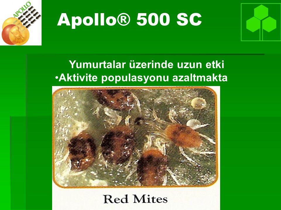 Apollo® 500 SC Yumurtalar üzerinde uzun etki