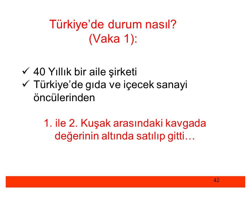 Türkiye'de durum nasıl (Vaka 1):