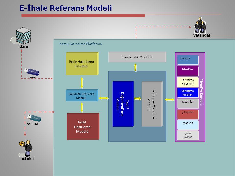 E-İhale Referans Modeli