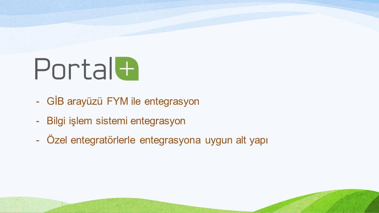 GİB arayüzü FYM ile entegrasyon